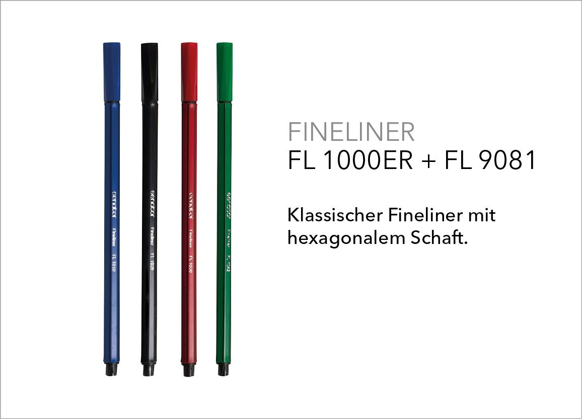 Fineliner 1000er Serie + FL 9081