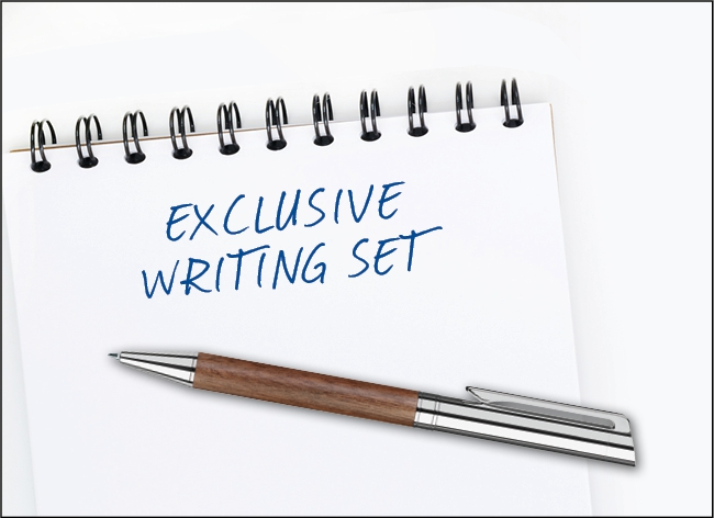 exclusive writing sets