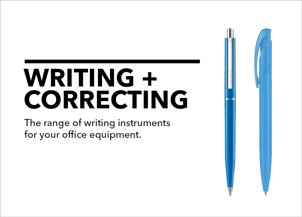 writing + correcting